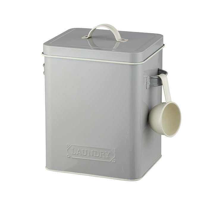 Pantry Embossed Laundry Soap Canister Grey