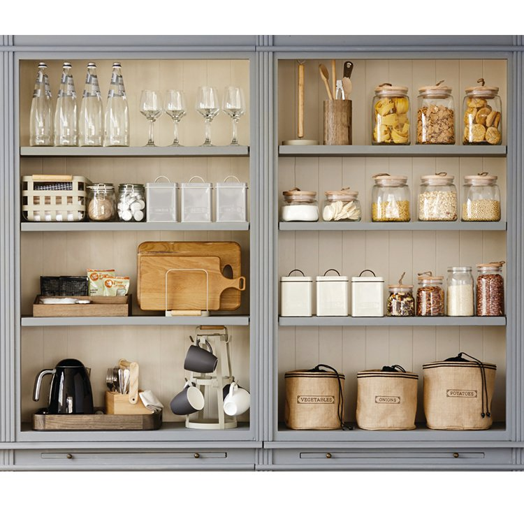 Pantry Square Glass Canister w/ Wooden Lid 1.9L