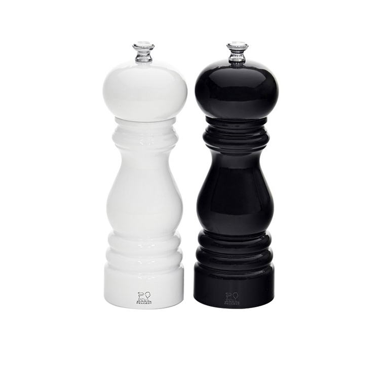 Peugeot Paris Salt & Pepper Mill Duo 18cm Gloss Black & White