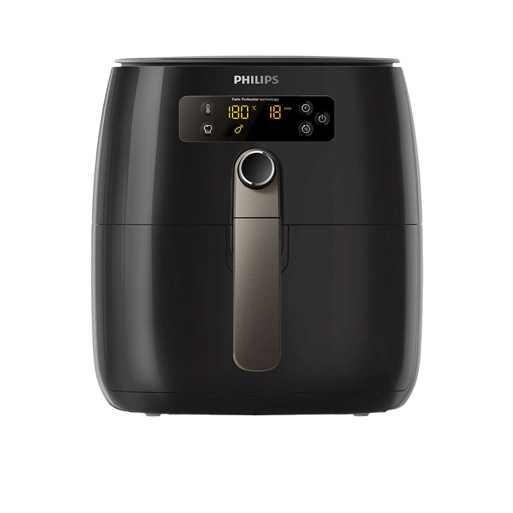 Philips Air Fryer Twin TurboStar Digital 800g Black