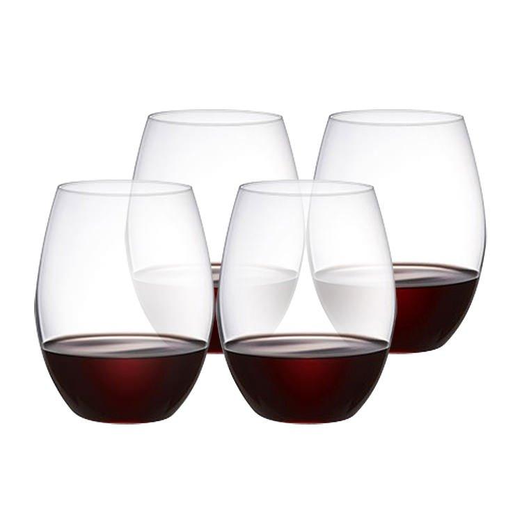 Plumm Stemless RED+ Wine Glass 610ml Set of 4