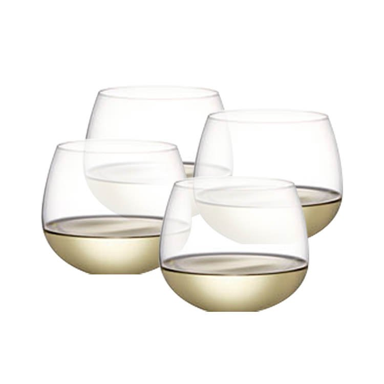 Plumm Stemless WHITEb+ Wine Glass 540ml Set of 4