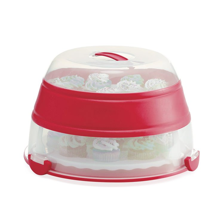 Progressive Prepworks Collapsible Cupcake & Cake Carrier 24