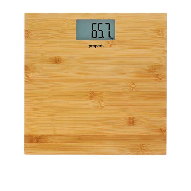 Propert Bathroom Scale Bamboo Teak