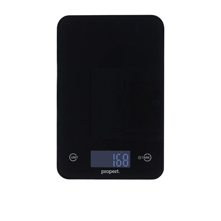 Propert Slimline Glass Digital Kitchen Scale Black