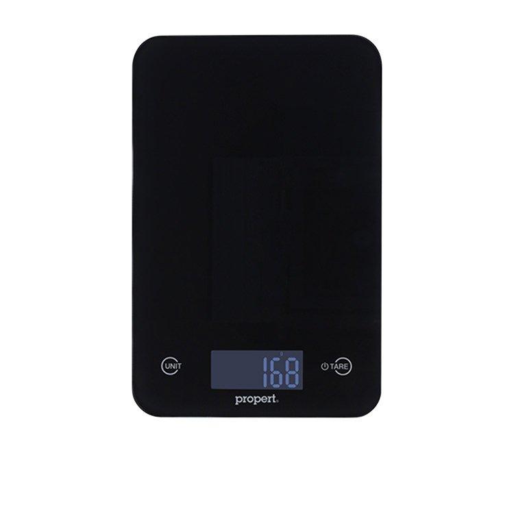 Propert Slimline Glass Digital Kitchen Scale Black