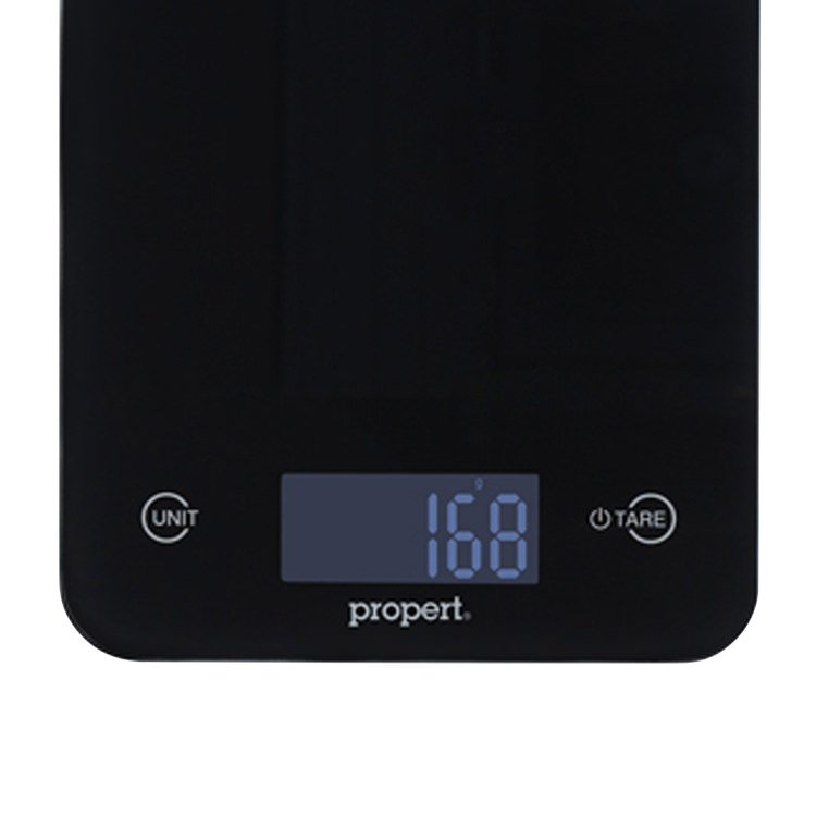 Propert Slimline Glass Digital Kitchen Scale Black image #2