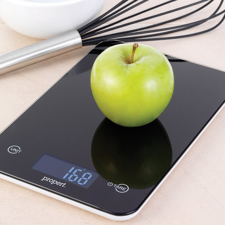 Propert Slimline Glass Digital Kitchen Scale Black image #3