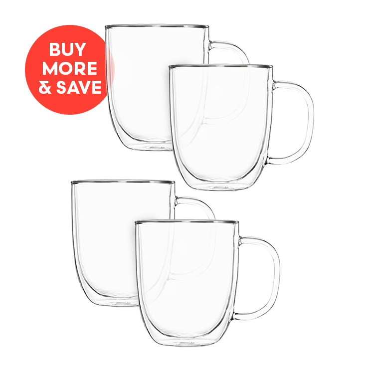 Pyrex 2pc Double Wall Mug Set 250ml (2 Sets)