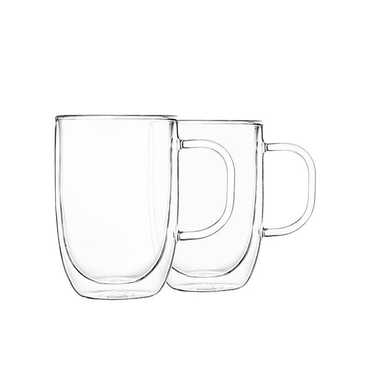 Pyrex 2pc Double Wall Mug Set 350ml