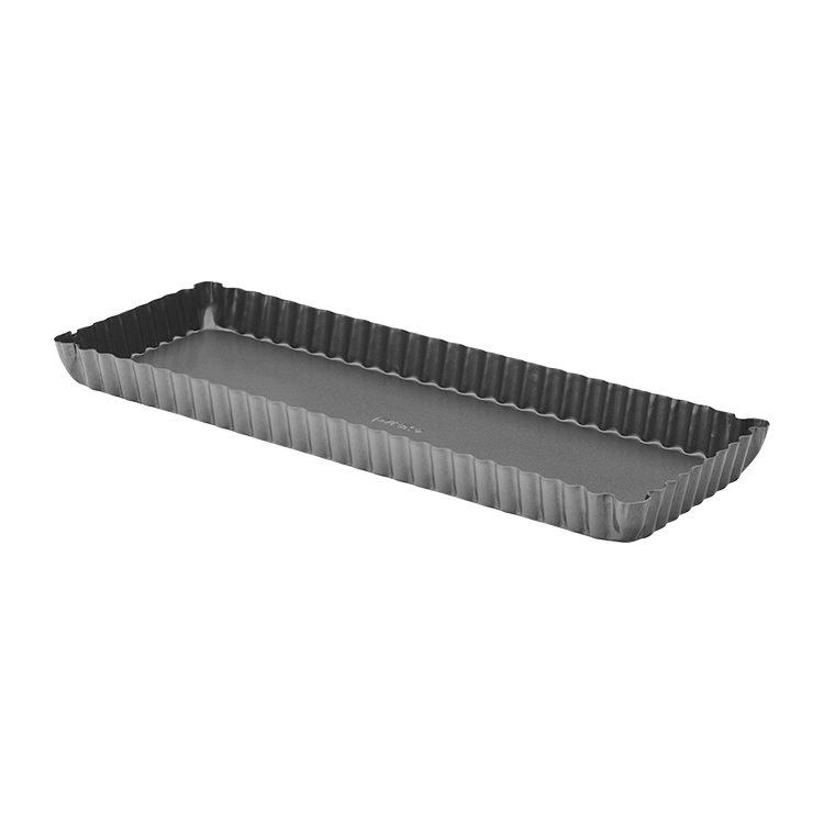 Pyrex Platinum Loose Base Rectangular Quiche Pan 35x12cm
