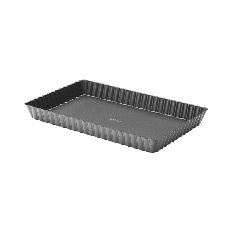 Pyrex Platinum Loose Base Wide Rectangular Tart Pan 28x18cm