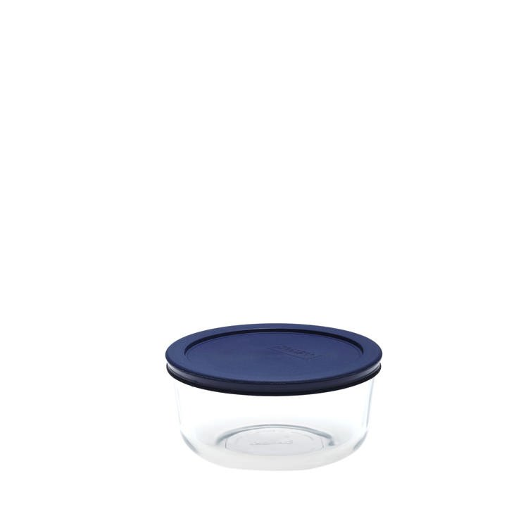 Pyrex Round Glass Storage 950ml Blue