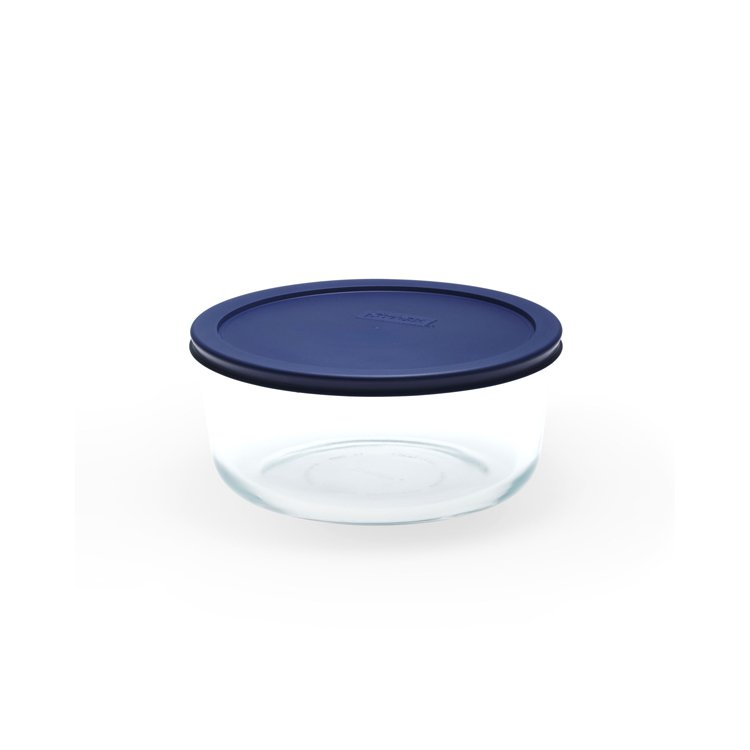 Pyrex Round Glass Storage 1.65L Blue