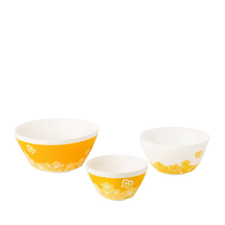 Pyrex Vintage Charm Golden Days Mixing Bowl Set 3pc