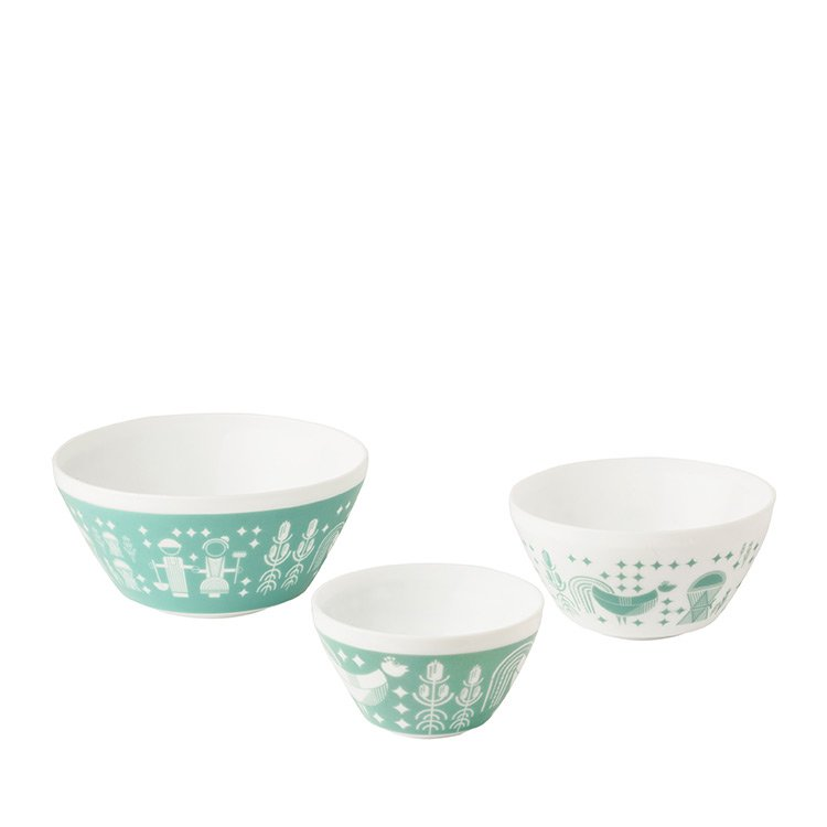 Pyrex Vintage Charm Rise n Shine Mixing Bowl Set 3pc