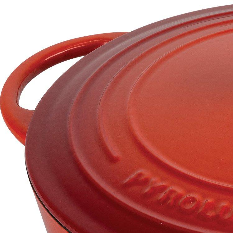 Pyrolux Pyrochef Enamelled Cast Iron Casserole 28cm - 6L Red