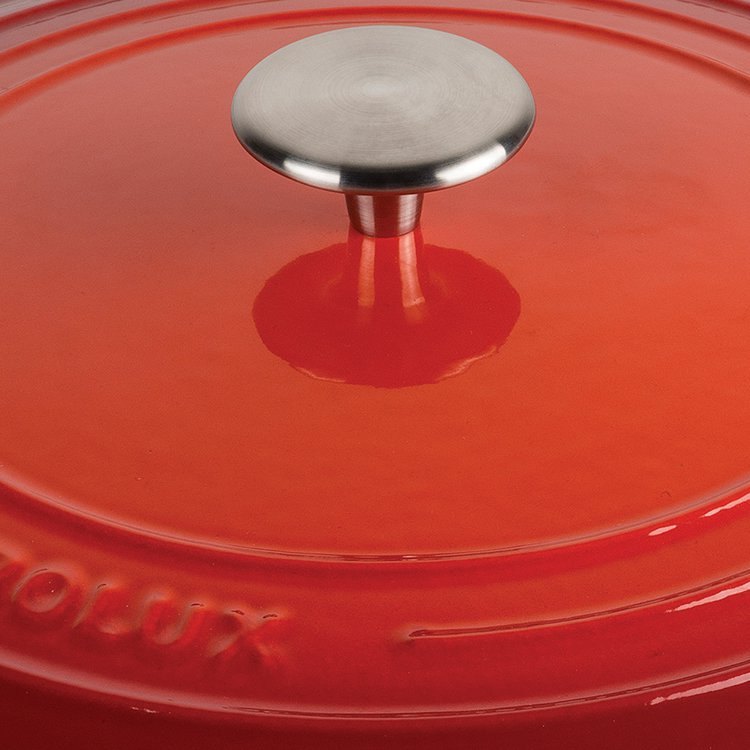 Pyrolux Pyrochef Enamelled Cast Iron Casserole 28cm - 6L Red