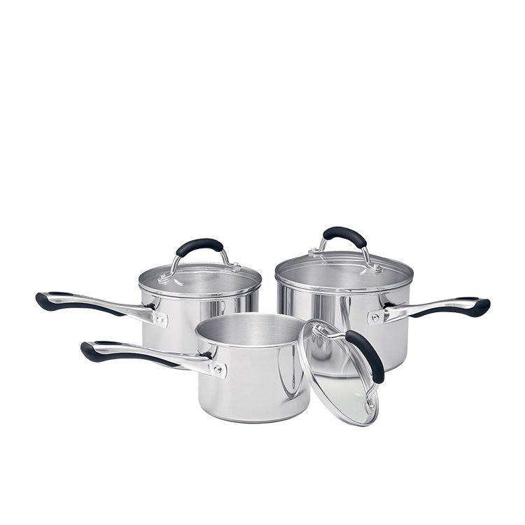 Raco Contemporary Stainless Steel 3pc Saucepan Set