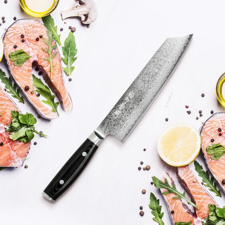 Yaxell Ran Plus Kiritsuke Knife 20cm