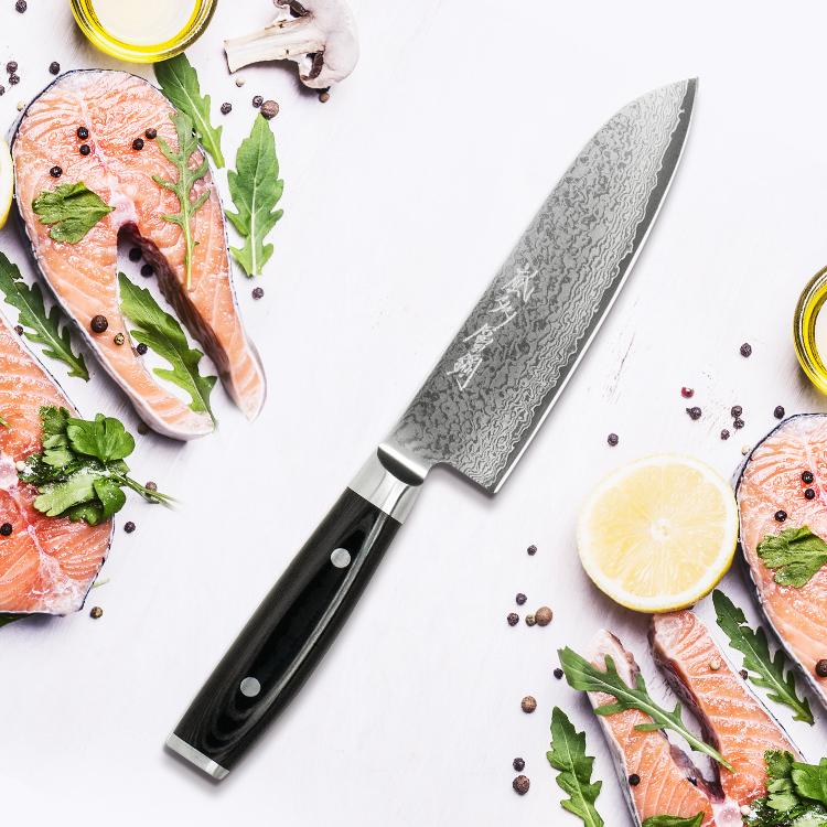 Yaxell Ran Plus Santoku Knife 16.5cm