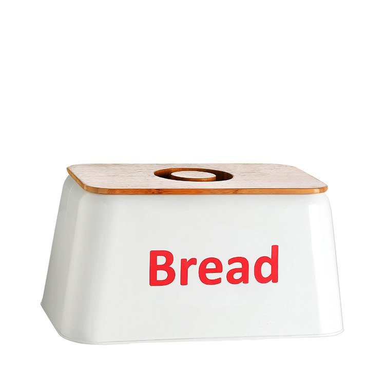 Retro Kitchen Bread Box Red