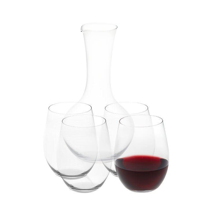 Riedel O Series Cabernet-Merlot Wine Glass 4pc Set with Decanter