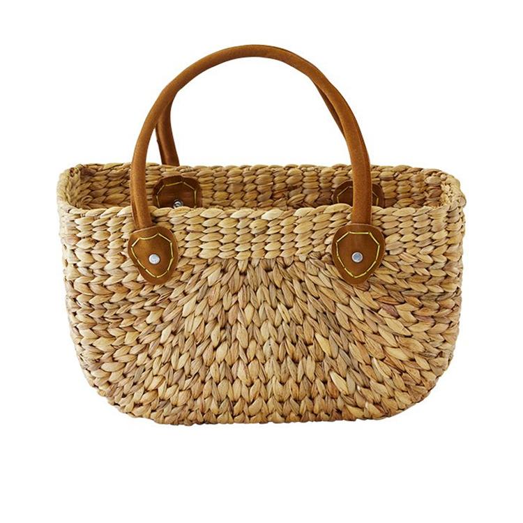 Robert Gordon Harvest Shop Bag w/ Leather Handles Natural Medium