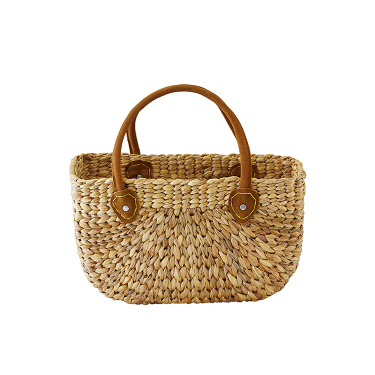 Robert Gordon Harvest Shop Bag w/ Leather Handles Natural Small