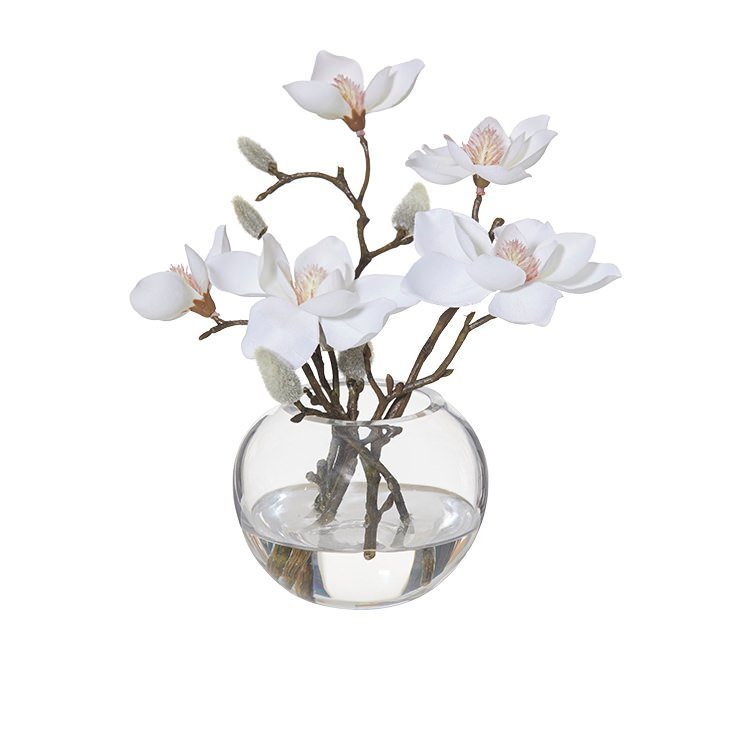 Rogue Artificial Magnolia w/ Sphere Vase