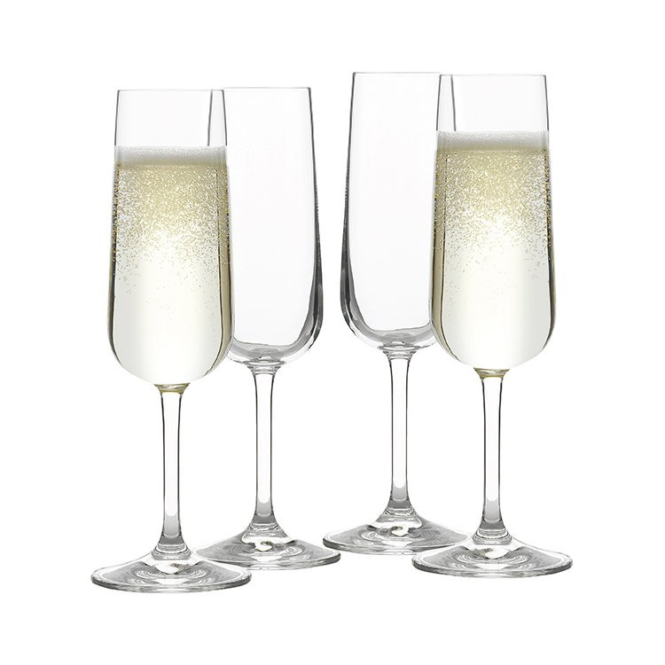 Rona Bin 4067 Champagne Flute 170ml Set of 4