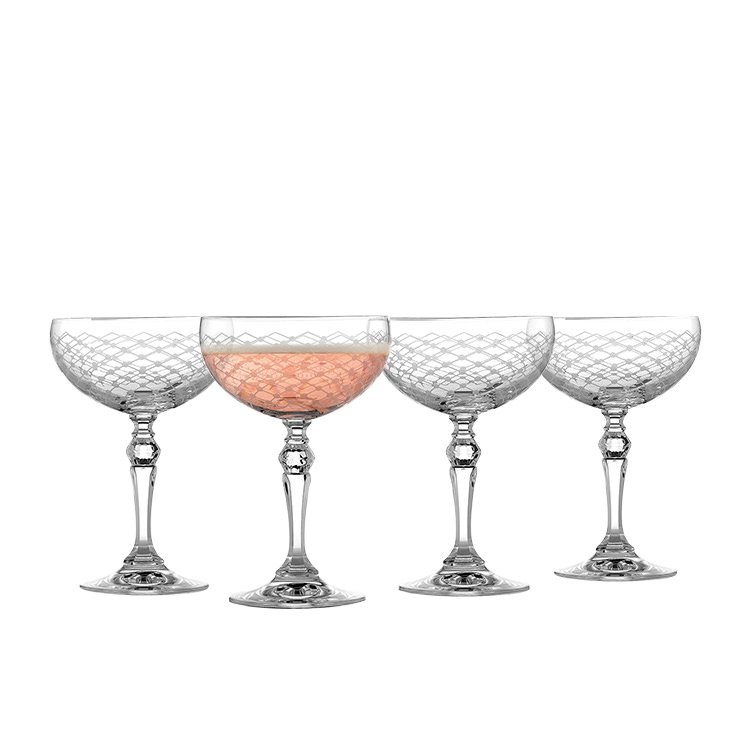 Rona Helmsley Champagne Saucer 260ml Set of 4