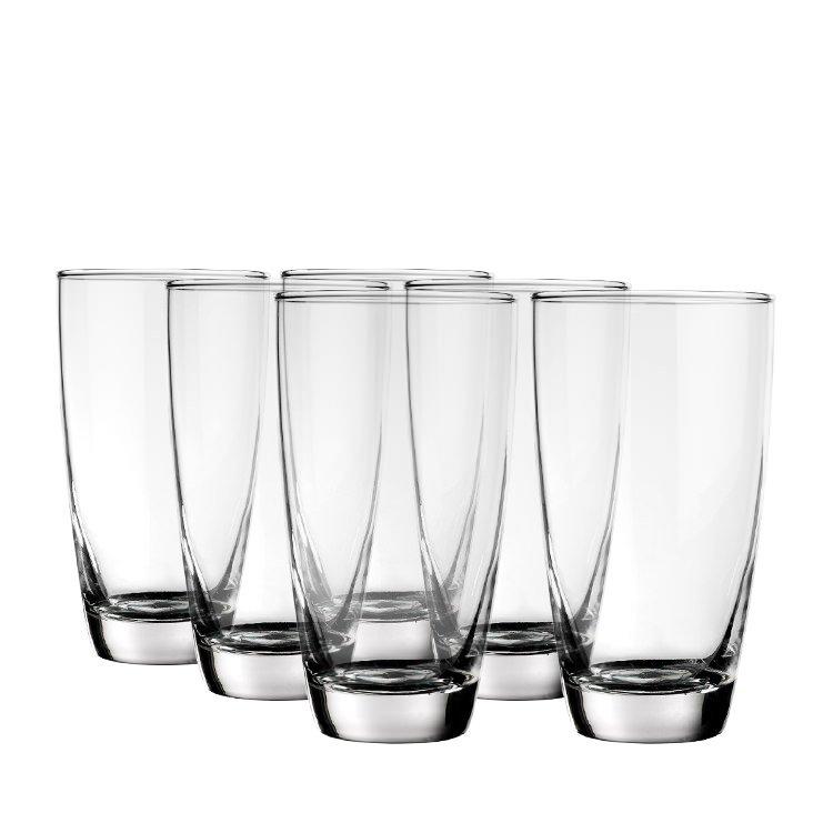 Rona Hi Ball Milan Glass 465ml 6pc Fast Shipping