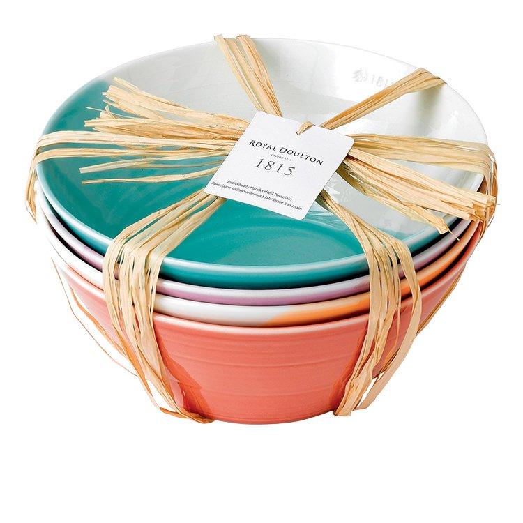 Royal Doulton 1815 Tableware Noodle Bowl Set of 4 Bright
