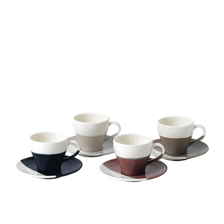 Royal Doulton Coffee Studio Espresso Cup & Saucer 110ml Set of 4