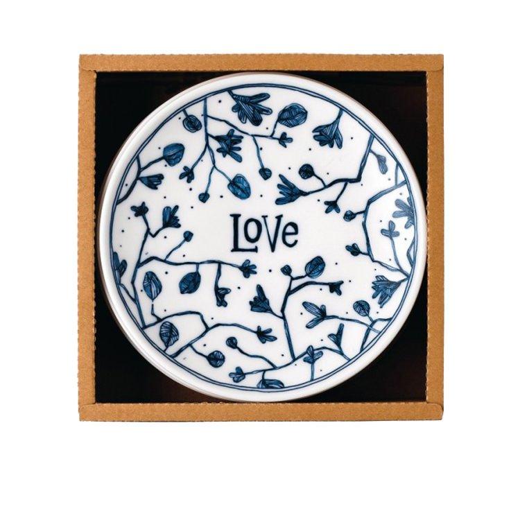 Royal Doulton Ellen DeGeneres Blue Love Accents Side Plate Set of 4