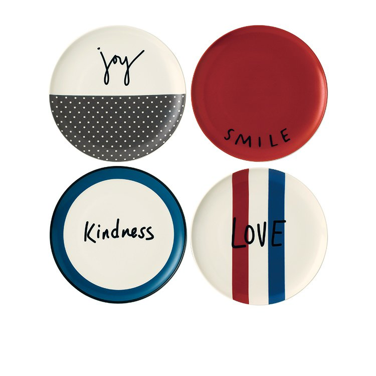 Royal Doulton Ellen DeGeneres Joy Accents Dinner Plate Set of 4