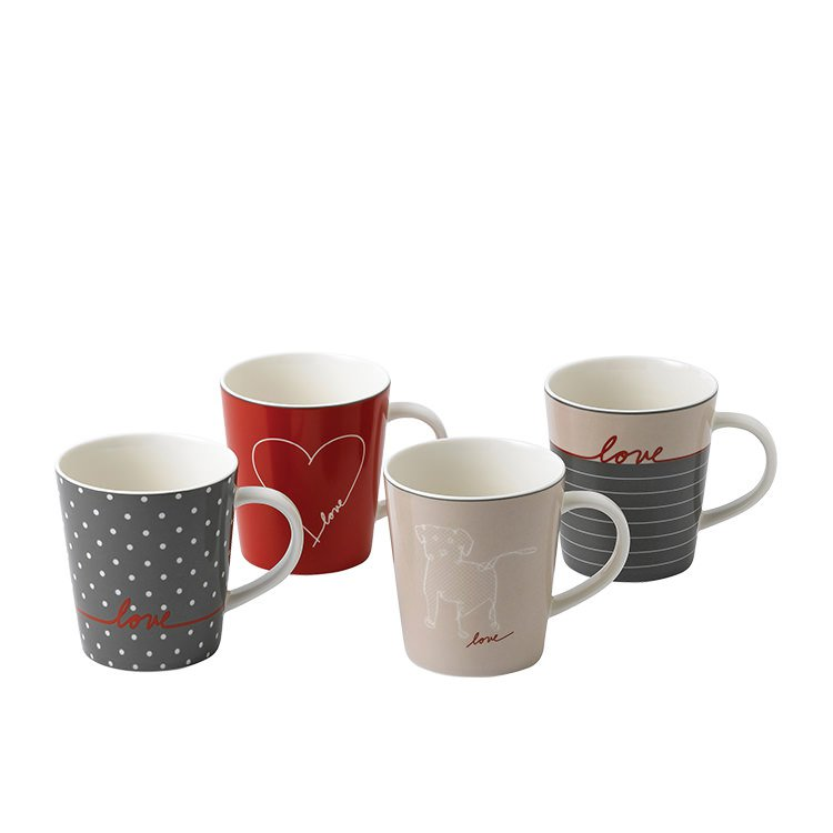 Royal Doulton Ellen DeGeneres Signature Accents Love Mug Set of 4