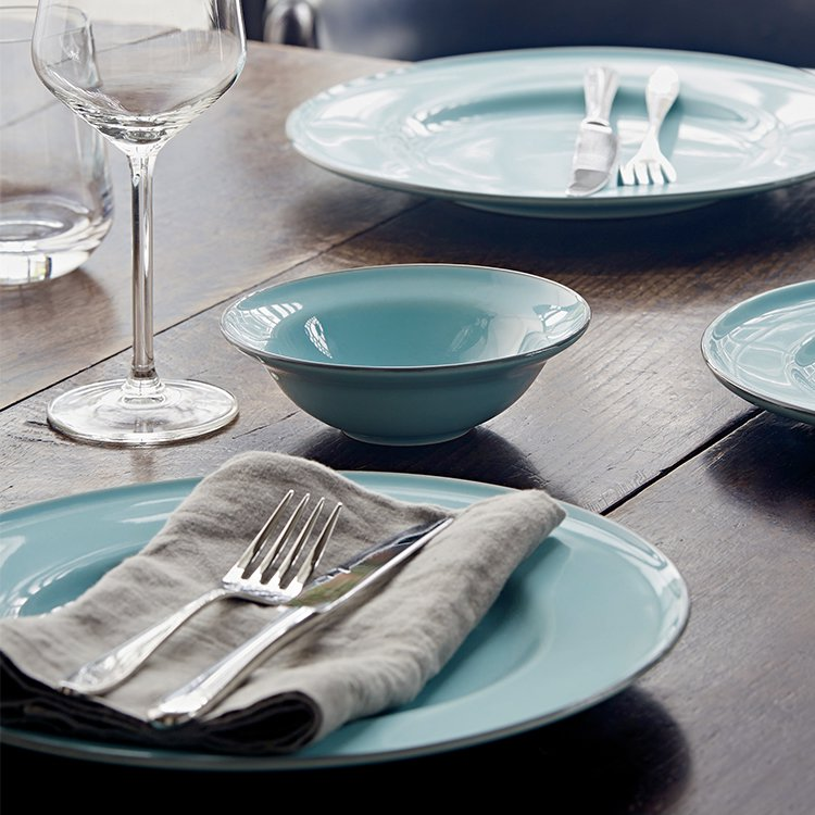 Royal Doulton Gordon Ramsay Union Street Cafe Dinner Set 16pc Blue image #4