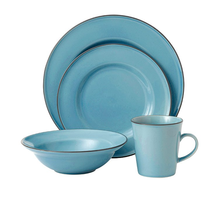 Royal Doulton Gordon Ramsay Union Street Cafe Dinner Set 16pc Blue