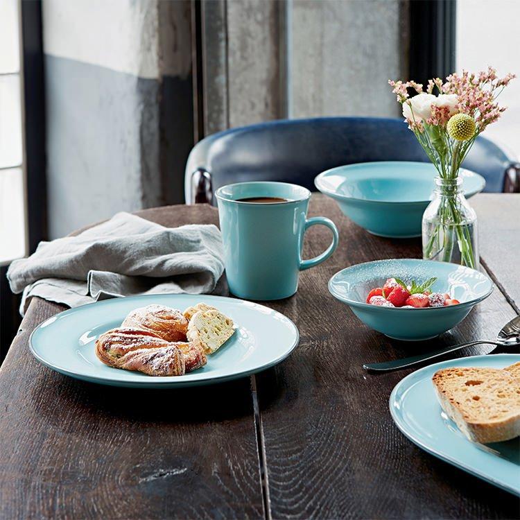 Royal Doulton Gordon Ramsay Union Street Cafe Dinner Set 16pc Blue image #3