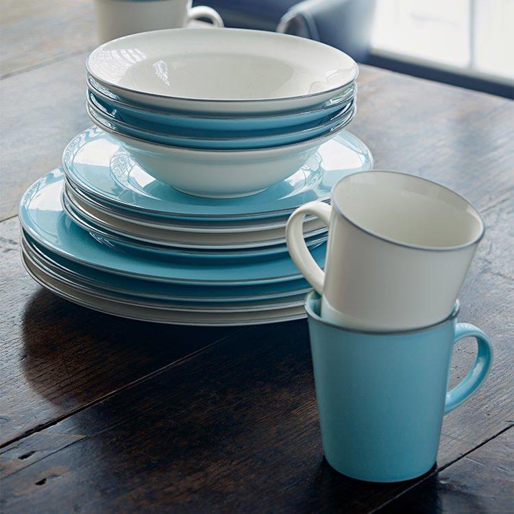 Royal Doulton Gordon Ramsay Union Street Cafe Dinner Set 16pc Blue image #6
