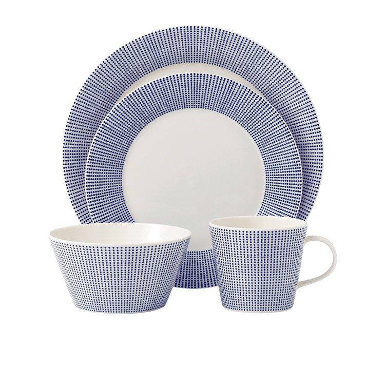 Royal Doulton Pacific Dots Dinner Set 16pc Blue