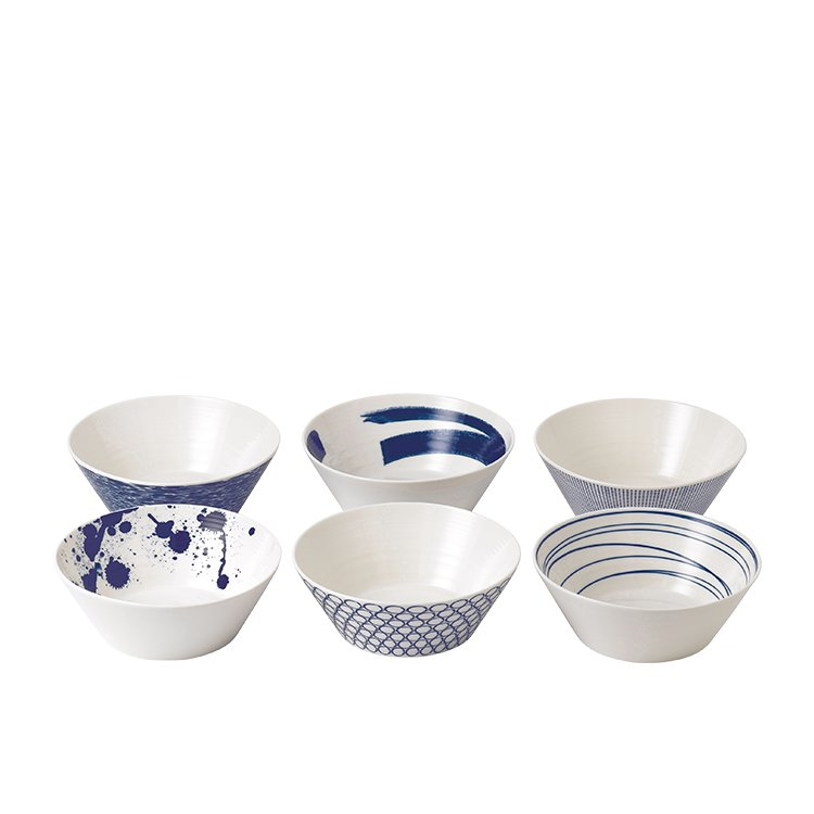 Royal Doulton Pacific Noodle Bowls 21cm Set of 6