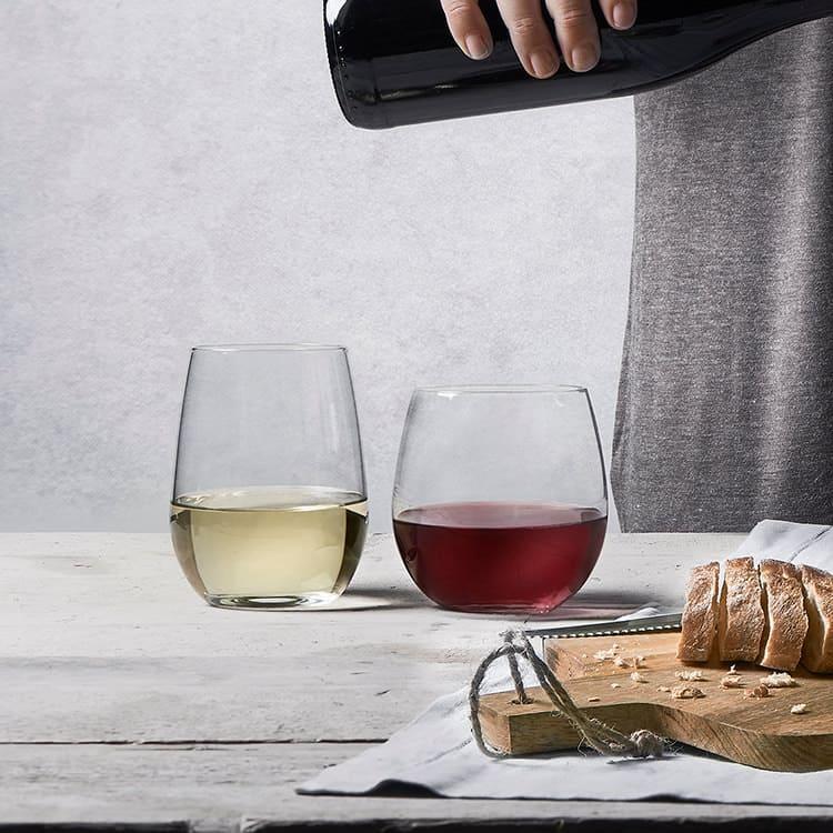 Royal Leerdam Suave Stemless Wine Glass Set of 12