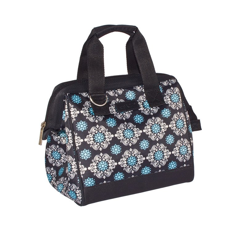 Sachi Insulated Lunch Bag Black Medallion