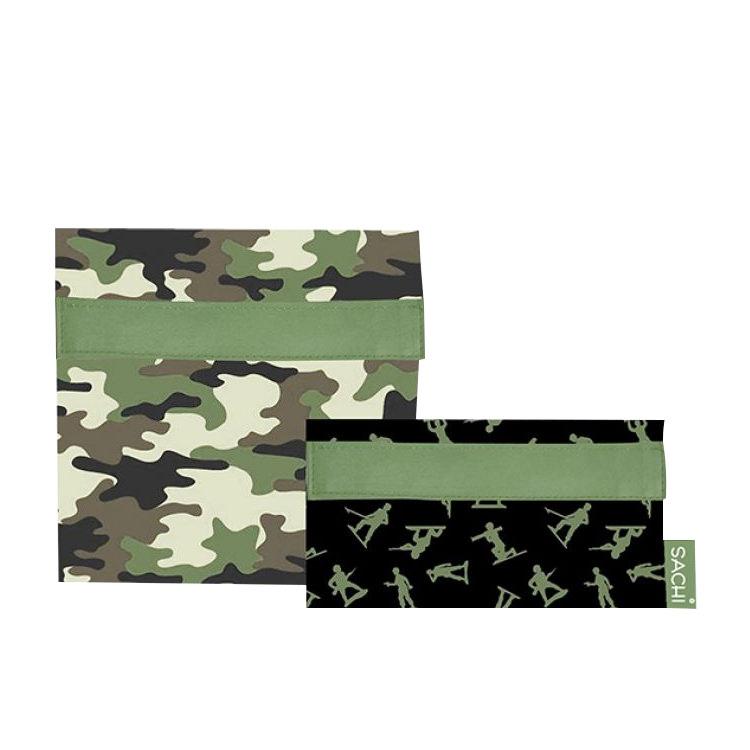 Sachi Lunch Pockets Set 2pc Camo Green