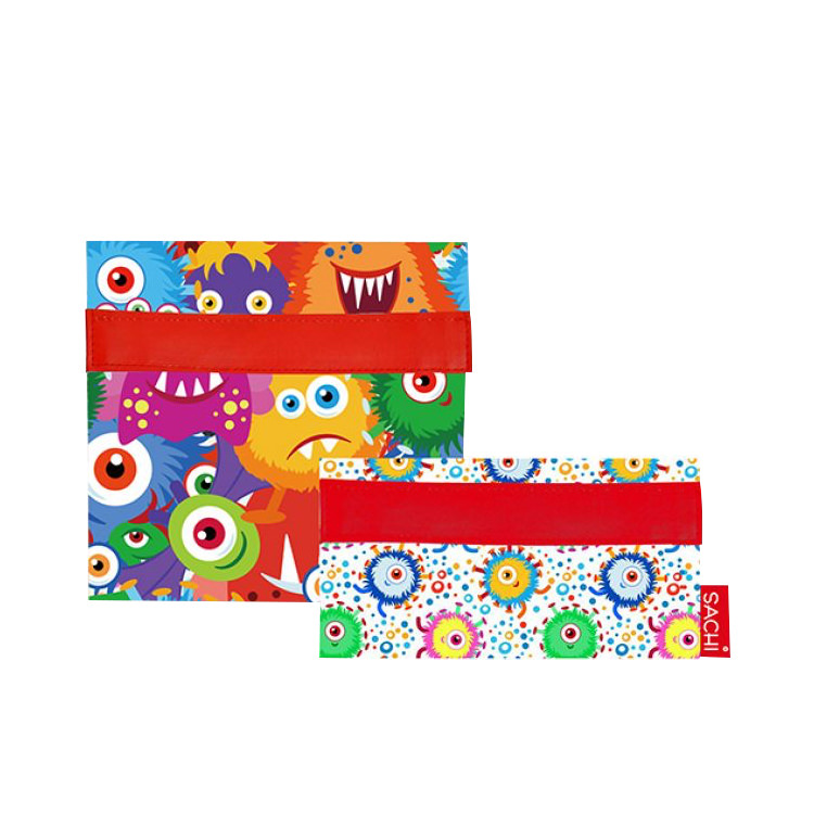 Sachi Lunch Pockets Set of 2 Monsters
