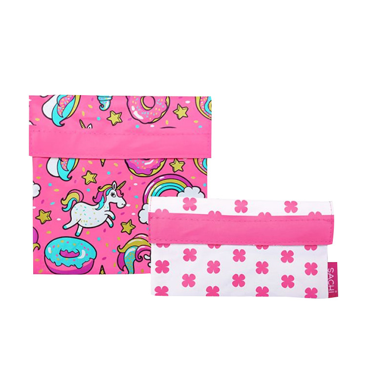 Sachi Lunch Pockets Set 2pc Unicorns