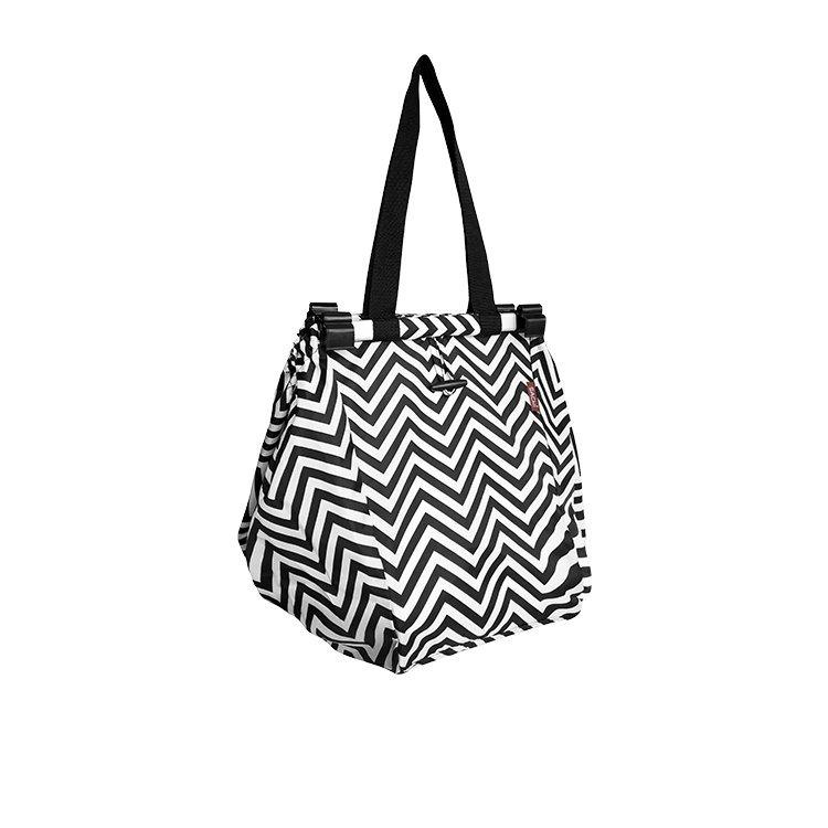 Sachi Shopping Trolley Bag Chevron Stripe